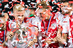 15-05-2019 NED: De Graafschap - Ajax, Doetinchem<br /> Round 34 / It wasn't really exciting anymore, but after the match against De Graafschap (1-4) it is official: Ajax is champion of the Netherlands / Donny van de Beek #6 of Ajax, Matthijs de Ligt #4 of Ajax, Klaas Jan Huntelaar #9 of Ajax