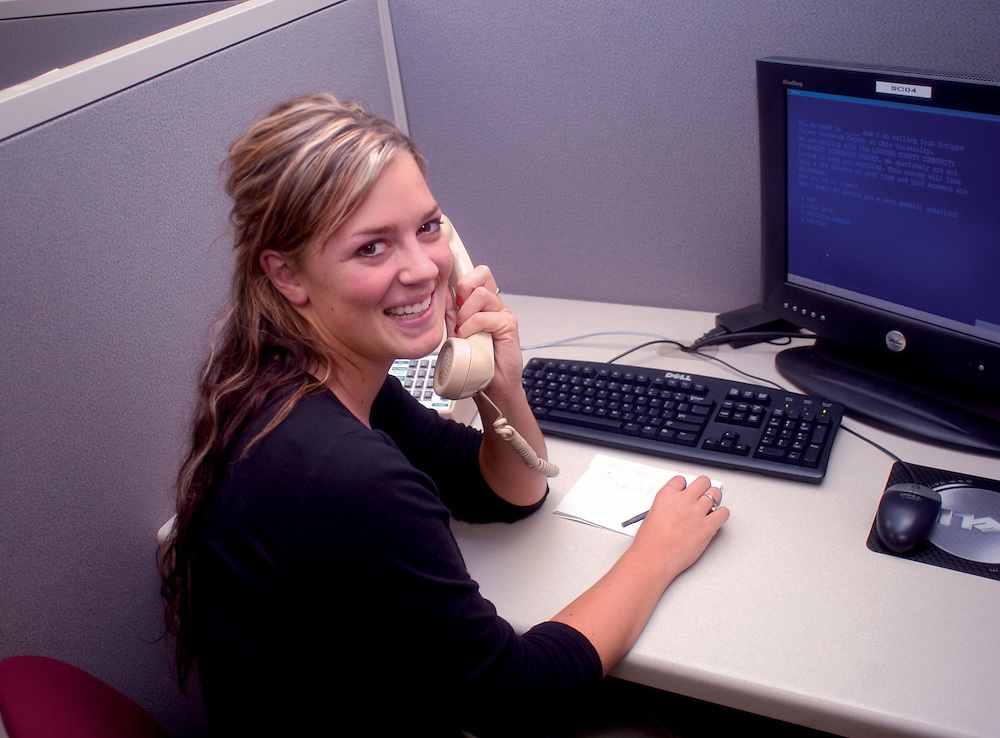 16998Call center at the Central Classroom: Photos by Colby Ware