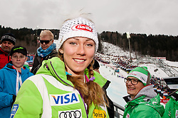 17.02.2013, Planai, Schladming, AUT, FIS Weltmeisterschaften Ski Alpin, Slalom, Herren, 2. Durchgang, im Bild Slalom-Weltmeisterin Mikaela Shiffrin (USA) // Slalom world champion Mikaela Shiffrin (USA) in action during 2nd run of the mens Slalom at the FIS Ski World Championships 2013 at the Planai Course, Schladming, Austria on 2013/02/17. EXPA Pictures © 2013, PhotoCredit: EXPA/ Markus Casna