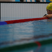 Stephanie Rice, Australia, in action during the Women's 400m Individual Medley where she finished sixth during the swimming finals at the Aquatic Centre at Olympic Park, Stratford during the London 2012 Olympic games. London, UK. 28th July 2012. Photo Tim Clayton
