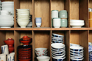 various Japanese porcelain and traditional owan cups