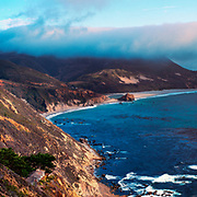 Coastal Fog over Point Sur. Big Sur, CA.