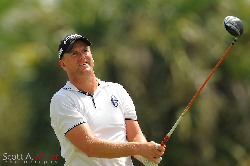 Robert Karlsson during the third round of the World Golf Championship Cadillac Championship on the TPC Blue Monster Course at Doral Golf Resort And Spa on March 10, 2012 in Doral, Fla. ..©2012 Scott A. Miller.