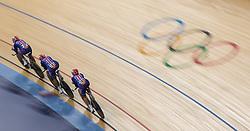 03.08.2012, Velodrome, London, GBR, Olympia 2012, Radsport, Bahn, Team Verfolgung, Damen, im Bild Sarah Hammer, Dotsie Bausch, Lauren Tamayo (USA, Silber Medaille) // silver medal Sarah Hammer, Dotsie Bausch, Lauren Tamayo (USA) during Cycling Track, Women Team Pursuit at the 2012 Summer Olympics at Velodrome, London, United Kingdom on 2012/08/03. EXPA Pictures © 2012, PhotoCredit: EXPA/ Johann Groder