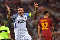 Esultanza dopo il secondo gol di Mauro Icardi Inter. Goal celebartion.<br /> Roma 26-08-2017 Stadio Olimpico Calcio Serie A AS Roma - Inter Foto Antonietta Baldassarre / Insidefoto