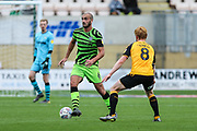 Forest Green Rovers Farrend Rawson(6) on the ball during the EFL Sky Bet League 2 match between Cambridge United and Forest Green Rovers at the Cambs Glass Stadium, Cambridge, England on 7 September 2019.
