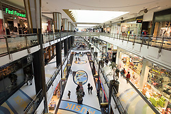 Interior of Alexa shopping mall in Alexanderplatz  Mitte Berlin
