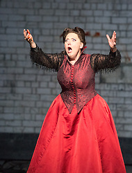 © Licensed to London News Pictures. 20/05/2013. Welsh National Opera present Wagner's Lohengrin, in a co-production with Theatr Wielki, Warsaw. Wales Millennium Centre, Cardiff. Featuring Susan Bickley (Ortrud). Photo credit: Tony Nandi/LNP