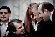 Roma 20.03.2010 Italy - Manifestazione del Popolo delle Libertà voluta da Silvio Berlusconi. Nella Foto: Michela Brambilla con Brunetta e Scajola. Foto Giovanni Marino