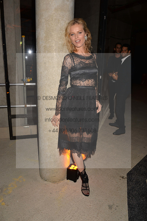 Eva Herzigova at the Veuve Clicquot Widow Series launch party curated by Carine Roitfeld and CR Studio held at Islington Green, London England. 19 October 2017.