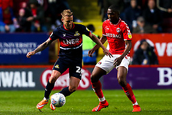 James Coppinger of Doncaster Rovers takes on Anfernee Dijksteel of Charlton Athletic - Mandatory by-line: Robbie Stephenson/JMP - 17/05/2019 - FOOTBALL - The Valley - Charlton, London, England - Charlton Athletic v Doncaster Rovers - Sky Bet League One Play-off Semi-Final 2nd Leg