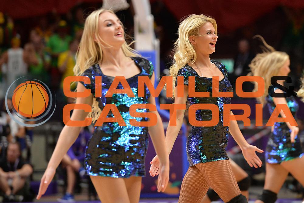 Cheerleader show<br /> Nazionale Italiana Maschile Senior<br /> Eurobasket 2017 - Group Phase<br /> Lituania - Italia<br /> FIP 2017<br /> Tel Aviv, 03/09/2017<br /> Foto Ciamillo - Castoria/ M.Longo