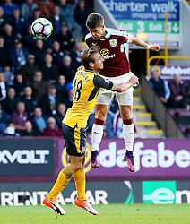 Nacho Monreal of Arsenal and Johann Gudmundsson of Burnley  - Mandatory by-line: Matt McNulty/JMP - 02/10/2016 - FOOTBALL - Turf Moor - Burnley, England - Burnley v Arsenal - Premier League
