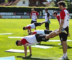 02.07.2013, Dana Arena Windischgarsten, WIndischgarsten, AUT, GER 2. FBL, Trainingslager 1. FC Koeln, im Bild Jonas Hector, (1. FC Koeln, #14) und Roman Golobart, (1. FC Koeln, #4) // during the training Camp of the German Bundesliga Club 1. FC Koeln at the Dana Arena Windischgarsten, Windischgarsten, Austria on 2013/07/02. EXPA Pictures © 2013, PhotoCredit: EXPA/ Roland Hackl