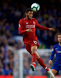 LONDON, ENGLAND - Saturday, September 29, 2018: Liverpool's Joe Gomez during the FA Premier League match between Chelsea FC and Liverpool FC at Stamford Bridge. (Pic by David Rawcliffe/Propaganda)