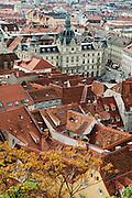 Blick vom Schlossberg auf die Altstadt mit Rathaus, Blick vom Schlossberg auf die Altstadt, UNESCO Welterbestätte Stadt Graz – Historisches Zentrum, Steiermark, Österreich |  View from the Schlossberg with the town hall of the Old Town, view from the Schlossberg in the historic center, a UNESCO World Heritage Site city of Graz - Historic Centre, Steiermark, Austria