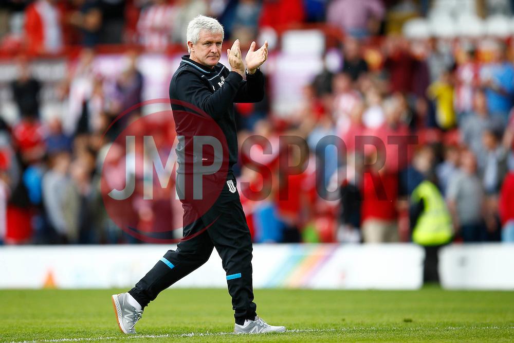 Stoke City manager Mark Hughes - Mandatory by-line: Jason Brown/JMP - Mobile 07966 386802 25/07/2015 - SPORT - FOOTBALL - Brentford, Griffin Park - Brentford v Stoke City - Pre-Season Friendly