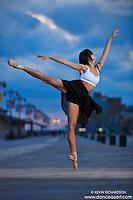 Ballerina Sabrina Imamura Coney Island Boardwalk Dance As Art the New York Photography Project