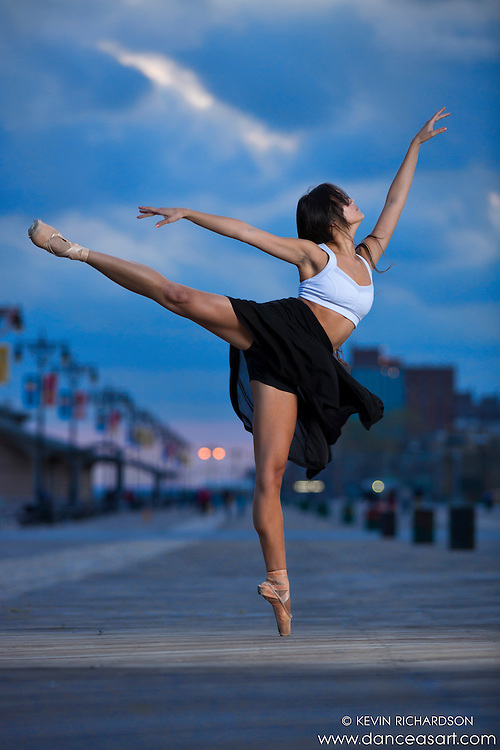 Ballerina Sabrina Imamura Coney Island Boardwalk Dance As Art the New York Photography Project