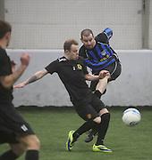 Borussia Dexys (black) v Clarks Cowboys - Dundee Saturday Morning FA Wintertoto 5 a sides at Soccerworld<br /> <br />  - &copy; David Young - www.davidyoungphoto.co.uk - email: davidyoungphoto@gmail.com