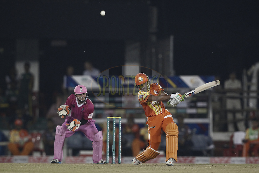 Imran Ali of the LAHORE LIONS during the qualifier 3 match of the Oppo Champions League Twenty20 between the Northern Knights and the Lahore Lions held at the Chhattisgarh International Cricket Stadium, Raipur, India on the 14th September 2014<br /> <br /> Photo by:  Deepak Malik / Sportzpics/ CLT20<br /> <br /> <br /> Image use is subject to the terms and conditions as laid out by the BCCI/ CLT20.  The terms and conditions can be downloaded here:<br /> <br /> http://sportzpics.photoshelter.com/gallery/CLT20-Image-Terms-and-Conditions-2014/G0000IfNJn535VPU/C0000QhhKadWcjYs