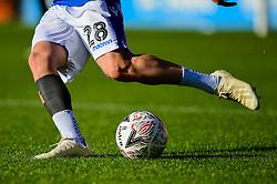 Michael Kelly of Bristol Rovers kicks the new FA Cup Match Ball prior to kick off - Mandatory by-line: Ryan Hiscott/JMP - 11/11/2018 - FOOTBALL - The Hive - Barnet, England - Barnet v Bristol Rovers - Emirates FA Cup first round proper
