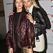 Anna Chiz and Kotsur Liliya attend Huawei - VIP celebration at One Marylebone London, UK. 16 October 2018.