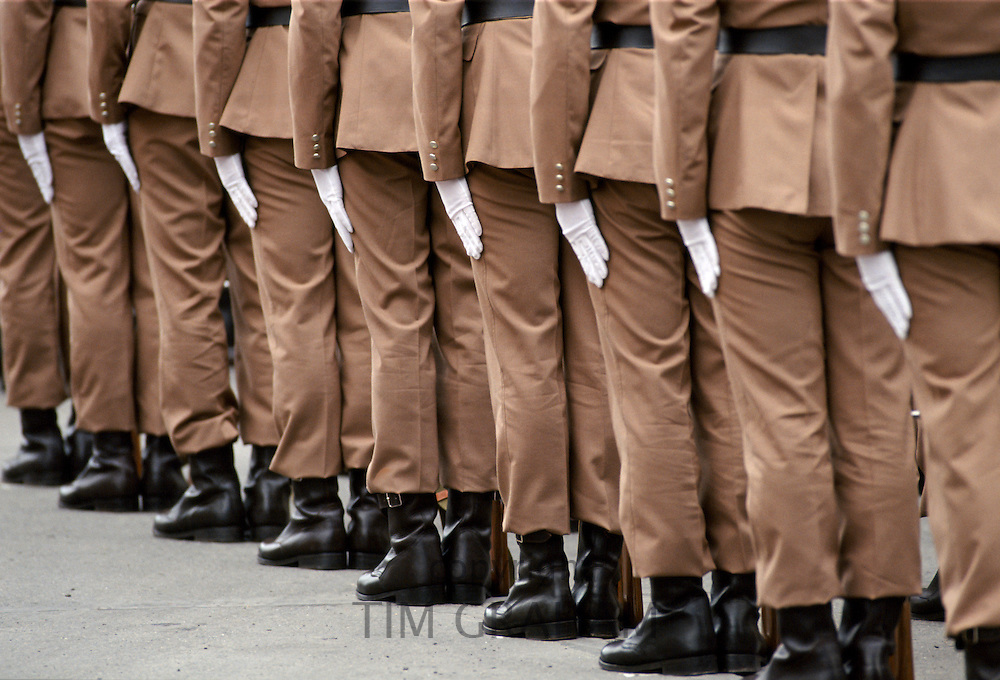 Soldiers at military parade in Budapest, Hungary
