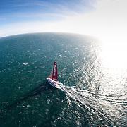 """El barco """"MAPFRE"""" intentará establecer un nuevo récord sobre la Ruta del Descubrimiento de Colón."""