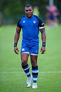 Semesa Rokoduguni of Bath Rugby before the Rugby Friendly match between Edinburgh Rugby and Bath Rugby at Meggetland Sports Complex, Edinburgh, Scotland on 17 August 2018.