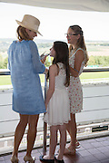 ISABELLA KNATCHBULL; GWENDOLINE ENGLISH; AMBER KNATCHBULL;  Glorious Goodwood. Thursday.  Sussex. 3 August 2013