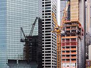 Construction in lower Manhattan