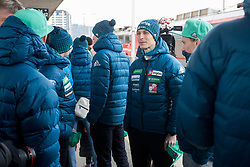 Jurij Tepes prior to the driving of Slovenian National Ski jumping Team from Ljubljana by train to the FIS World Cup Ski Jumping Final Planica 2018, on March 21, 2018 in Ljubljana, Slovenia. Photo by Urban Urbanc / Sportida