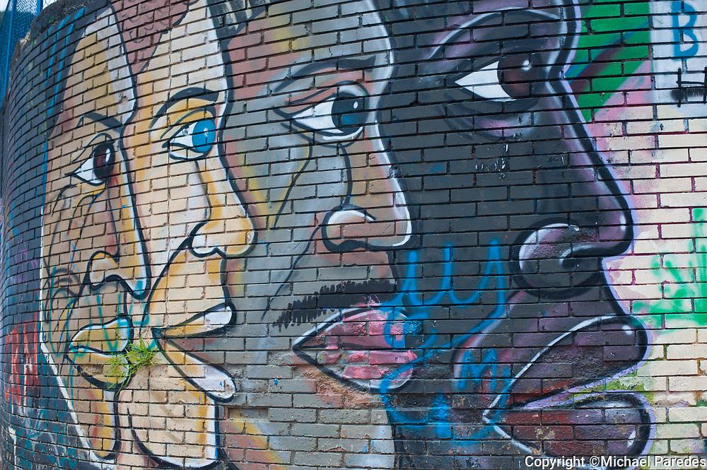 Graffiti in the la Candelaria barrio (neighborhood) of Bogotá.