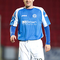 St Johnstone v Motherwell...03.11.12      SPL<br /> David Robertson<br /> Picture by Graeme Hart.<br /> Copyright Perthshire Picture Agency<br /> Tel: 01738 623350  Mobile: 07990 594431