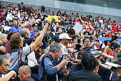 October 6, 2017 - Suzuka, Japan - Motorsports: FIA Formula One World Championship 2017, Grand Prix of Japan, .#44 Lewis Hamilton (GBR, Mercedes AMG Petronas Formula One Team) (Credit Image: © Hoch Zwei via ZUMA Wire)