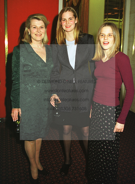 Left to right, MRS RONALD FERGUSON and her daughters MISS ALICE FERGUSON and MISS ELIZA FERGUSON half sisters of Sarah, Duchess of York, at a fashion show in London on 12th April 1999.MPY 39