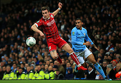 Joe Bryan of Bristol City and Danilo of Manchester City - Mandatory by-line: Matt McNulty/JMP - 09/01/2018 - FOOTBALL - Etihad Stadium - Manchester, England - Manchester City v Bristol City - Carabao Cup Semi-Final First Leg