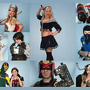 Cosplayers at the MCN Comic Con in Glasgow.