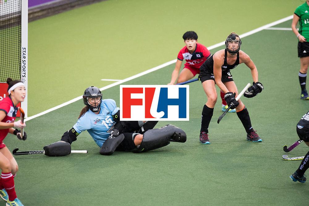 AUCKLAND - Sentinel Hockey World League final women<br /> Match id 10295<br /> 05 New Zealand  v Korea<br /> Foto: Grace O'hanlon( Gk) <br /> WORLDSPORTPICS COPYRIGHT FRANK UIJLENBROEK