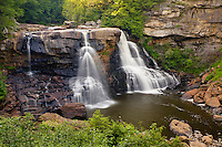 The Blackwater River, falls over a 62 foot embankment in Blackwater Falls State Park. The Park located in the Allegheny Mountains of Tucker County, West Virginia, offers scenic beauty and plenty of outdoor recreation including hiking, biking, and cross country skiing...