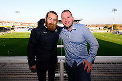 Stuart Sinclair of Bristol Rovers with fans in hospitality  - Mandatory by-line: Dougie Allward/JMP - 17/11/2018 - FOOTBALL - Memorial Stadium - Bristol, England - Bristol Rovers v Scunthorpe United - Sky Bet League One