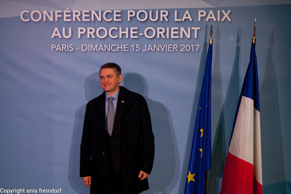 Middle East Peace Conference, Paris, France. International summit. 7O countries have participated in the summit. Ukraine, Oleg Shamshur, Ukraine ambassador to France