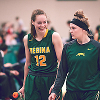 5th year forward, Christina McCusker (12) of the Regina Cougars during the Women's Basketball Home Game on Sat Dec 01 at Centre for Kinesiology,Health and Sport. Credit: Arthur Ward/Arthur Images