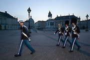 Changing of the Guards at Amalienborg, summer castle of Danish Queen Margarete II.