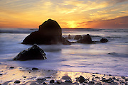 Sunset on Piedras Blancas Coastline<br /> Just north of Point Piedras Blancas, Central CA