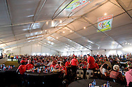 VILLIERSDORP, SOUTH AFRICA - The dining hall at stage one of the Absa Cape Epic Mountain Bike Stage Race held between Gordon's Bay and Villiersdorp on the 22 March 2009 in the Western Cape, South Africa..Photo by Nick Muzik  /SPORTZPICS