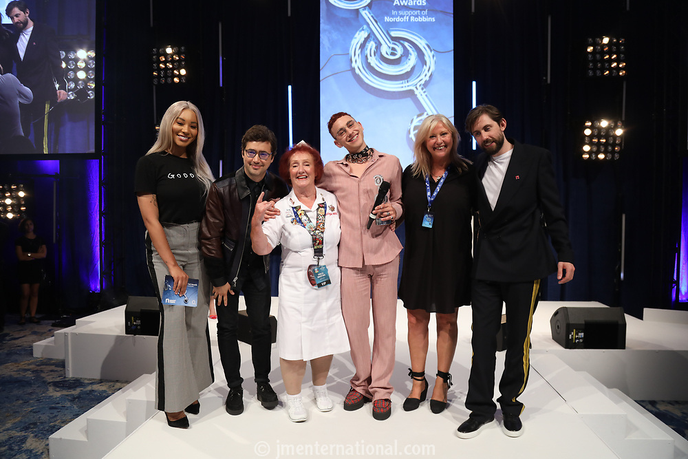 Years and Years accept their award onstage during the O2 Silver Clef Awards 2019, Grosvenor House, London, UK, Friday 05 July 2019<br /> Photo JM Enternational