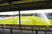A general view of the pitch before the Pre-Season Friendly match between Scunthorpe United and Leicester City at Glanford Park, Scunthorpe, England on 16 July 2019.