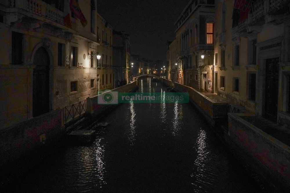 A view of a canal at night in Venice. From a series of travel photos in Italy. Photo date: Sunday, February 10, 2019. Photo credit should read: Richard Gray/EMPICS
